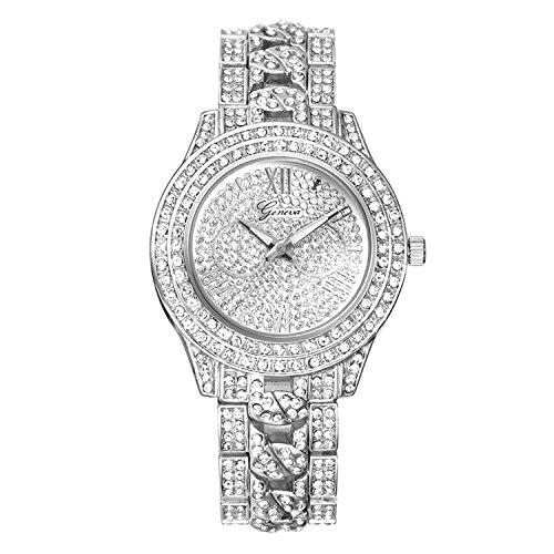 MINHIN Studded with Diamonds Alloy Geneva Geneva Watch Unisex Luxury Shiny Watches