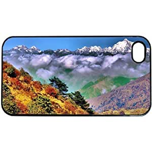 Scenic Mountains Nature Apple iPhone 4 or 4S PLASTIC cell phone Case / Cover Great Gift Idea
