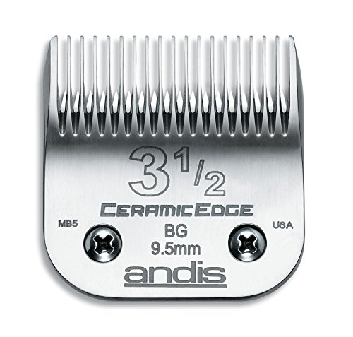 Andis CeramicEdge Carbon-Infused Steel Clipper Blade, Size-3-1/2, 3/8-Inch Cut Length (63040)