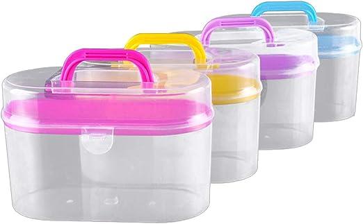 SUPVOX Estuche portátil de plástico para contenedores de Almacenamiento para artículos de Costura para Manualidades (Color Aleatorio): Amazon.es: Hogar