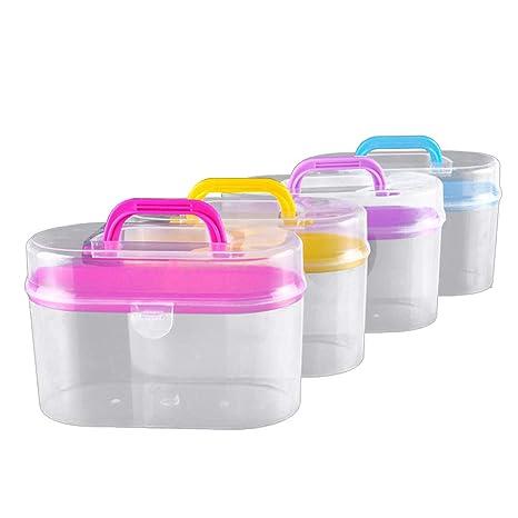 SUPVOX Estuche portátil de plástico para contenedores de ...