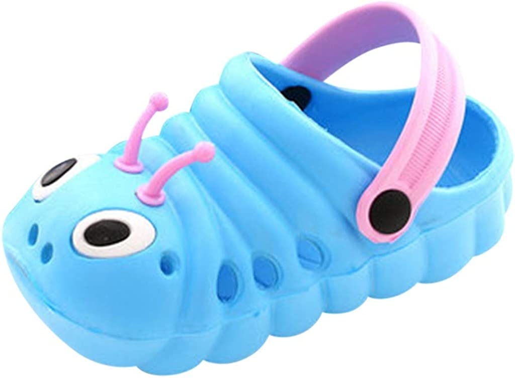 SolwDa Sandals Toddler Little Kids Baby Boys Girls Cute Cartoon Garden Beach Flip Shoes Pool Shower Slippers