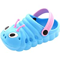 Toddler Baby Sandals Slippers Girls Boys Cute Caterpillar Sandals Flip Shoes Soft Sole Flat Lightweight Closed Toe Casual Shoes Outdoor Beach Pool Bath Slippers Sandals
