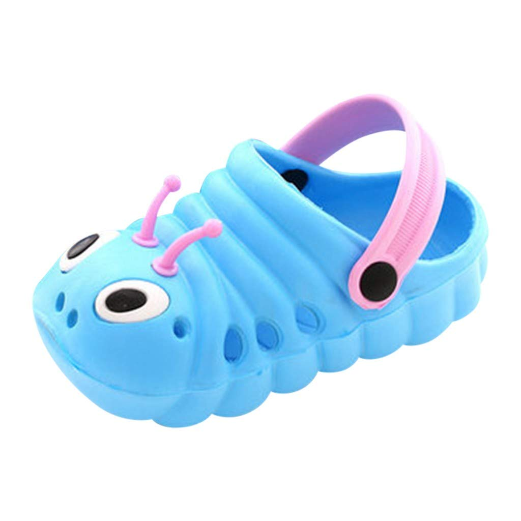 Dasuy Toddler Baby Boys Girls Cute Cartoon Beach Sandals Infant Summer Non-Slip Slippers Flip Shoes Size 18-29 (18, Blue)