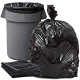 Plasticplace 55-60 Gallon Trash Bags │ 1.2 Mil │ Black Heavy Duty Garbage Can Liners │ 38' x 58' (100Count)