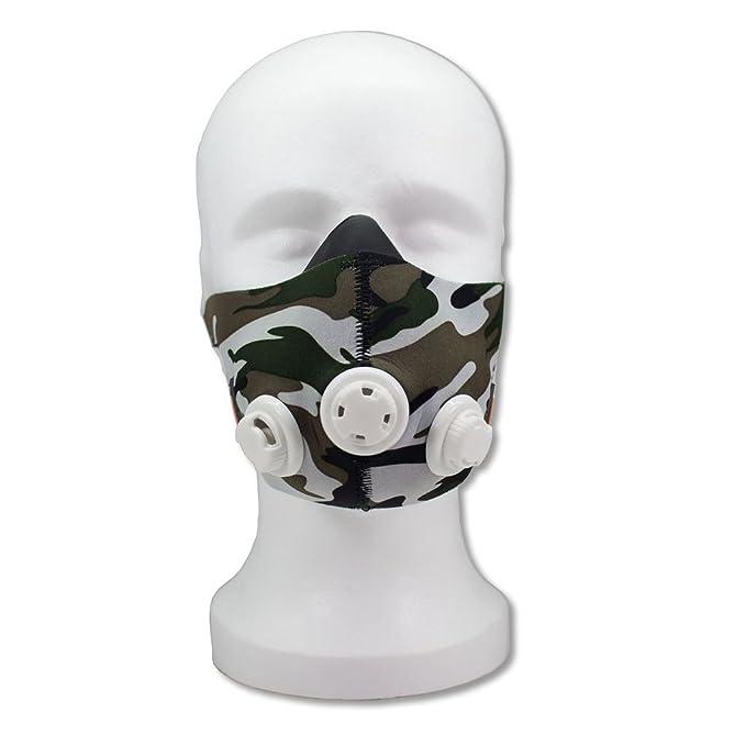 Performance Mask - Máscara de entrenamiento Cardio/Training Mask de simulación de altitude para ampliación de Endurance - para simuler hasta 5500 M de ...