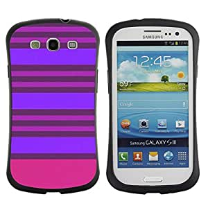 "Pulsar iFace Series Tpu silicona Carcasa Funda Case para SAMSUNG Galaxy S3 III / i9300 / i747 , Púrpura Rosa Líneas simétrica"""