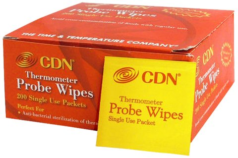 CDN Probe Wipes Packet Thermometer