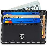 TRAVANDO Front Pocket Wallet Minimalist Slim Wallets for Men TEXAS 9 Card Slots RFID Blocking Thin Card Sleeve