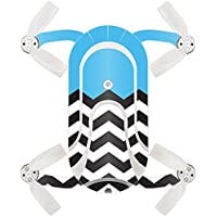 Skin For ZEROTECH Dobby Pocket Drone – Baby Blue Chevron | MightySkins Protective, Durable, and Unique Vinyl Decal wrap cover | Easy To Apply, Remove, and Change Styles | Made in the USA