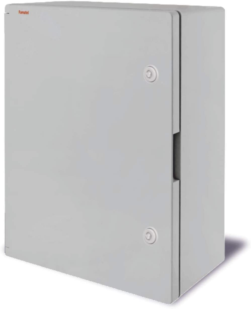 Box made in ABS Thermoplastic 15.75x19.69x6.89 inches Includes Mounting Galvanized Metal Plate CE Certified Easylife Tech Watertight IP65 Enclosure By Famatel