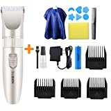 HaloVa Hair Clipper, Detachable Battery Rechargeable Electric...