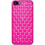 Amzer AMZ94730 Diamond Lattice Snap On Shell Case Cover For Apple iPhone 5, iPhone 5S, iPhone SE (Fits All Carriers)  - Hot Pink