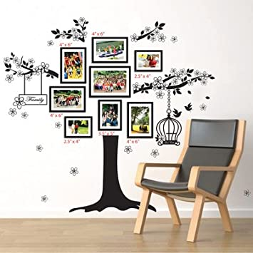 Walplus 150x100 Cm Wall Stickers Birdcage Photo Frame Removable  Self Adhesive Mural Art Decals Vinyl Part 8
