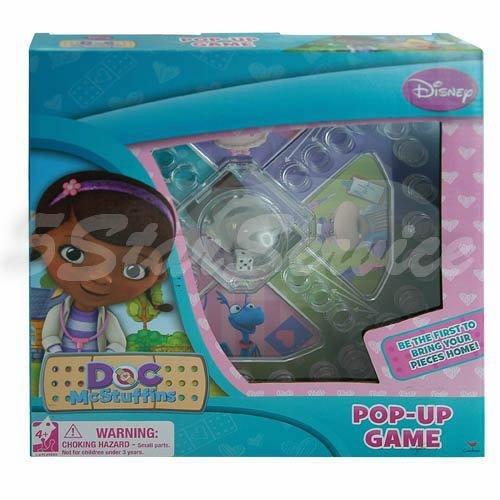 New Disney Doc Mcstuffins Board Game Pop-up Game for Kids