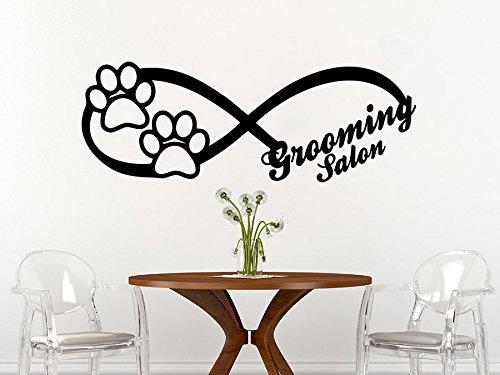(Infinity Sign Dog Wall Decal Animals Vinyl Sticker Decals Petshop Grooming Salon Home Decor Art Design Interior C597)