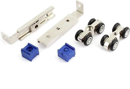 2 piezas 1,78 cm Diámetro 4 negro Metal ruedas para puerta corredera rodillo para armario: Amazon.es: Bricolaje y herramientas