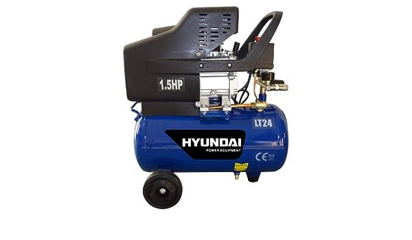 Hyundai HC24L - Compresor de aire (24 L, 156 L por minuto): Amazon.es: Bricolaje y herramientas
