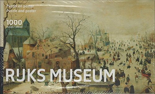 Puzzleman 1000 Piece Puzzle with Poster - Rejks Museum: Winter Landscape By Hendrick Avercamp
