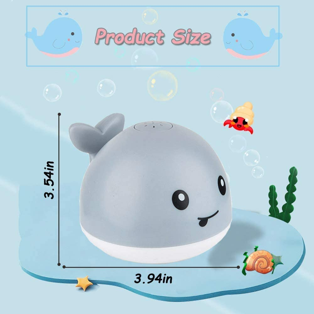 Whale Automatic Spray Water Bath Toy Induction Sprinkler Bathtub Shower Toys for Toddlers Kids Boys Girls Baby Bath Toys