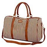 Cheap BAOSHA HB-24 Ladies Women Canvas Weekender Bag Travel Duffel Tote Bag Weekend Overnight Travel Bag (Khaki)