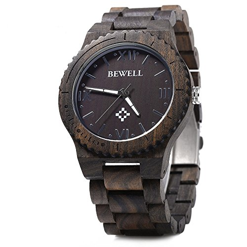 bewell-zs-w065a-wood-men-quartz-watch-roman-numeral-scales-ebony-wood