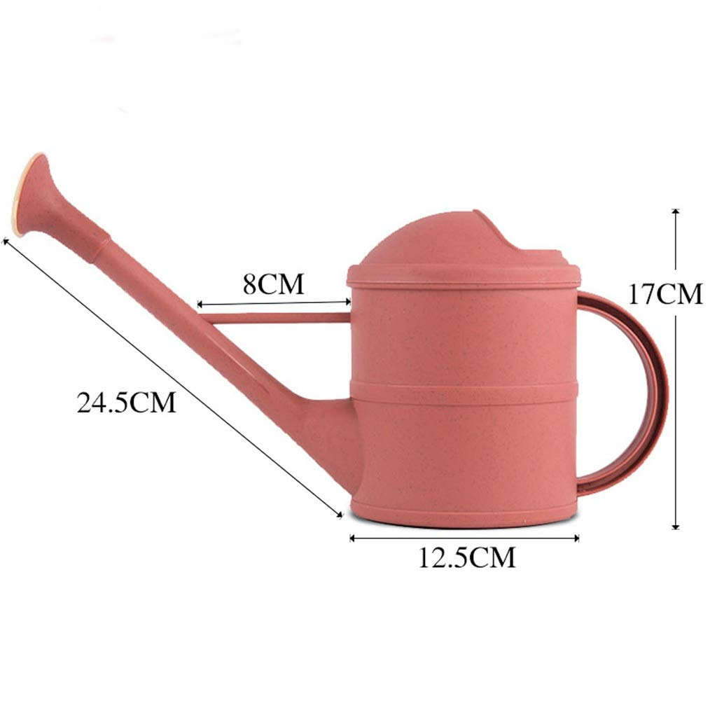 DQMSB Watering Kettle Home Shower Artefatto Long Mouth Watering CanPlastic Dispositivo di irrigazione Indoor Gardening Tool Doccia (colore   rosa)