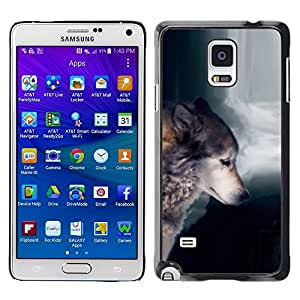 LOVE FOR Samsung Galaxy Note 4 Wolf Waterfull Indian Wild Animal Forest Personalized Design Custom DIY Case Cover