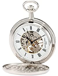 Charles-Hubert, Paris 3909-W Classic Collection Hunter Case Mechanical Pocket Watch
