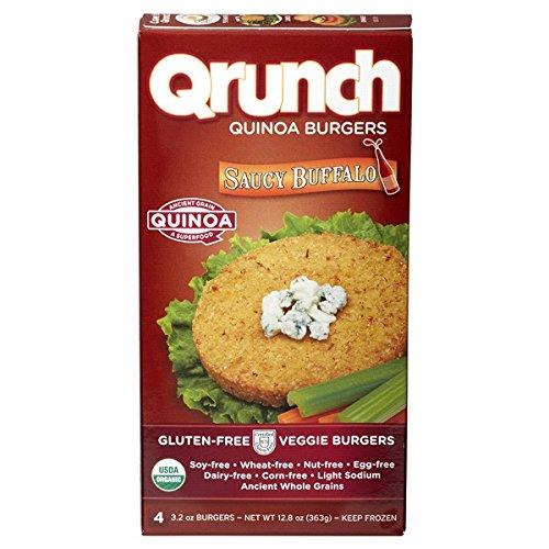 Qrunch Quinoa Burgers, Saucy Buffalo, 12.8 Ounce (Pack of 06)
