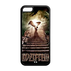 MMZ DIY PHONE CASEFashion Led Zeppelin Personalized ipod touch 5 Rubber Silicone Case Cover