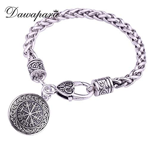 LTTA Charm Bracelets Norse Myth Rune Amulet Pendant Necklace Blessing Gift Friends - Ships from:CN