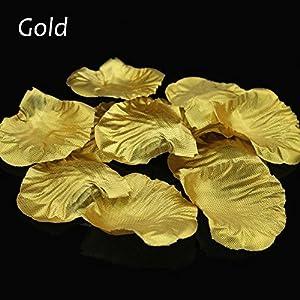 1000 Pcs Silk Rose Petals Fake Petals for Wedding Decoration Festive Supplies (Gold) 2