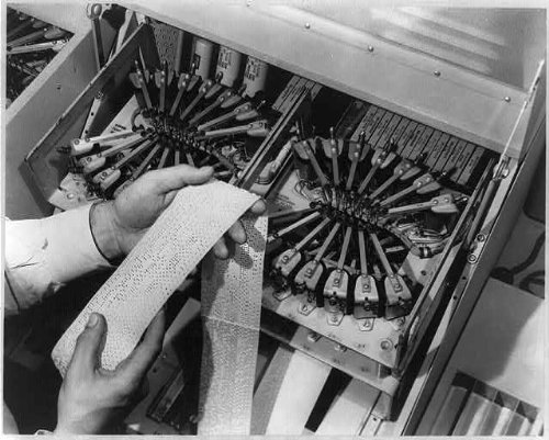Photo: Tape-punching equipment,automatic message accounting system,Bell Telephone,1949