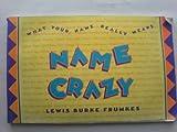 Name Crazy, Lewis B. Frumkes, 067163187X