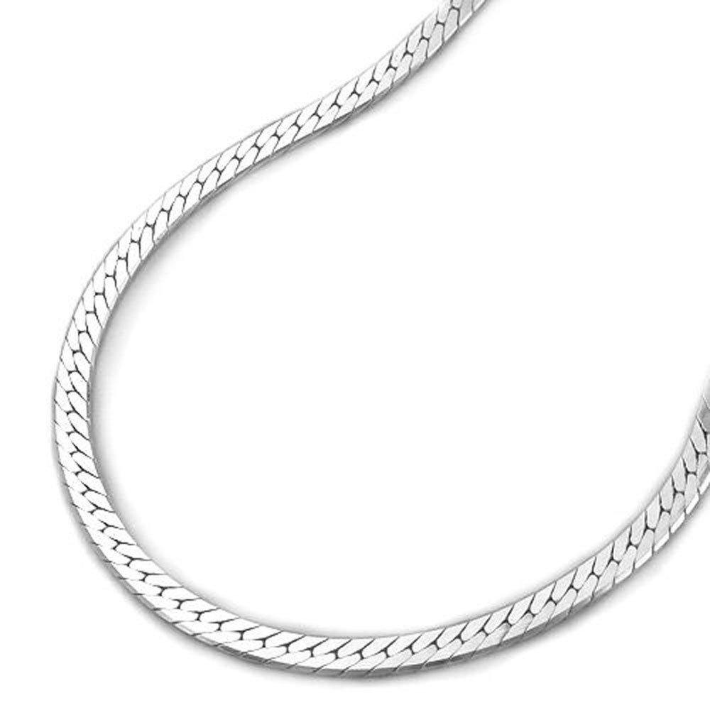 Bracelet hommes curb chain coupe de diamantiert très plat bords légèrement poncée argent 925 longueur d'argent 19 cm de largeur 3 mm x 0, 5 mm unbespielt 4250445572600 B004KTLKTW