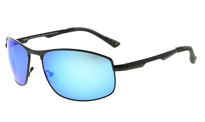 2fa37ae6592 Eyekepper Metal Frame Spring Hinges Polycarbonate Lens Polarized Sunglasses  Men Women