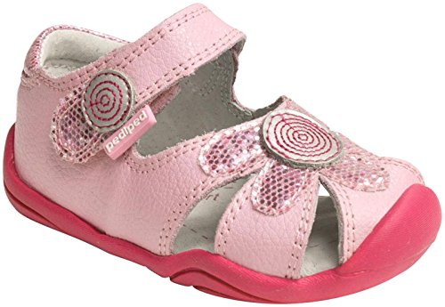 pediped Daisy Grip-N-Go Dress Sandal ,Aster Pink Leather,20