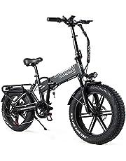 SAMEBIKE Fat Bike Elektrische mountainbike, 20 inch, opvouwbare elektrische mountainbike, 48 V, 10 Ah, vetbanden, mountainbike voor volwassenen