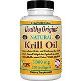 Healthy Origins, Krill Oil, Natural Vanilla Flavor, 1,000 mg, 120 Softgels - 3PC