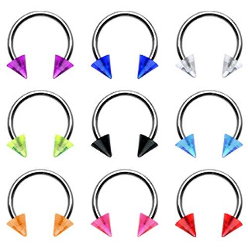 0 gauge horseshoe cone earrings - 3