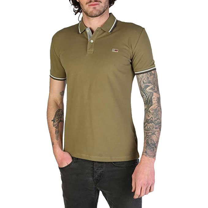 Napapijri Taly-Stretch - Polo para Hombre, Color Verde: Amazon.es ...