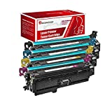 AwesomeToner 8 PK CE260X CE261A CE262A CE263A 2Set Compatible Toner cartridge For HP Color LaserJet 4525 4025 High Yield Cyan Yellow Black 17000 Cyan Yellow Magenta 11000 Pages