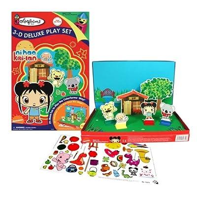 Colorforms Ni Hao Kai Lan 3-D Deluxe Play Set: Toys & Games