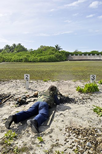 Home Comforts A Sailor engages in a live-fire training exercise at the British Indian Ocean Territory firing rang
