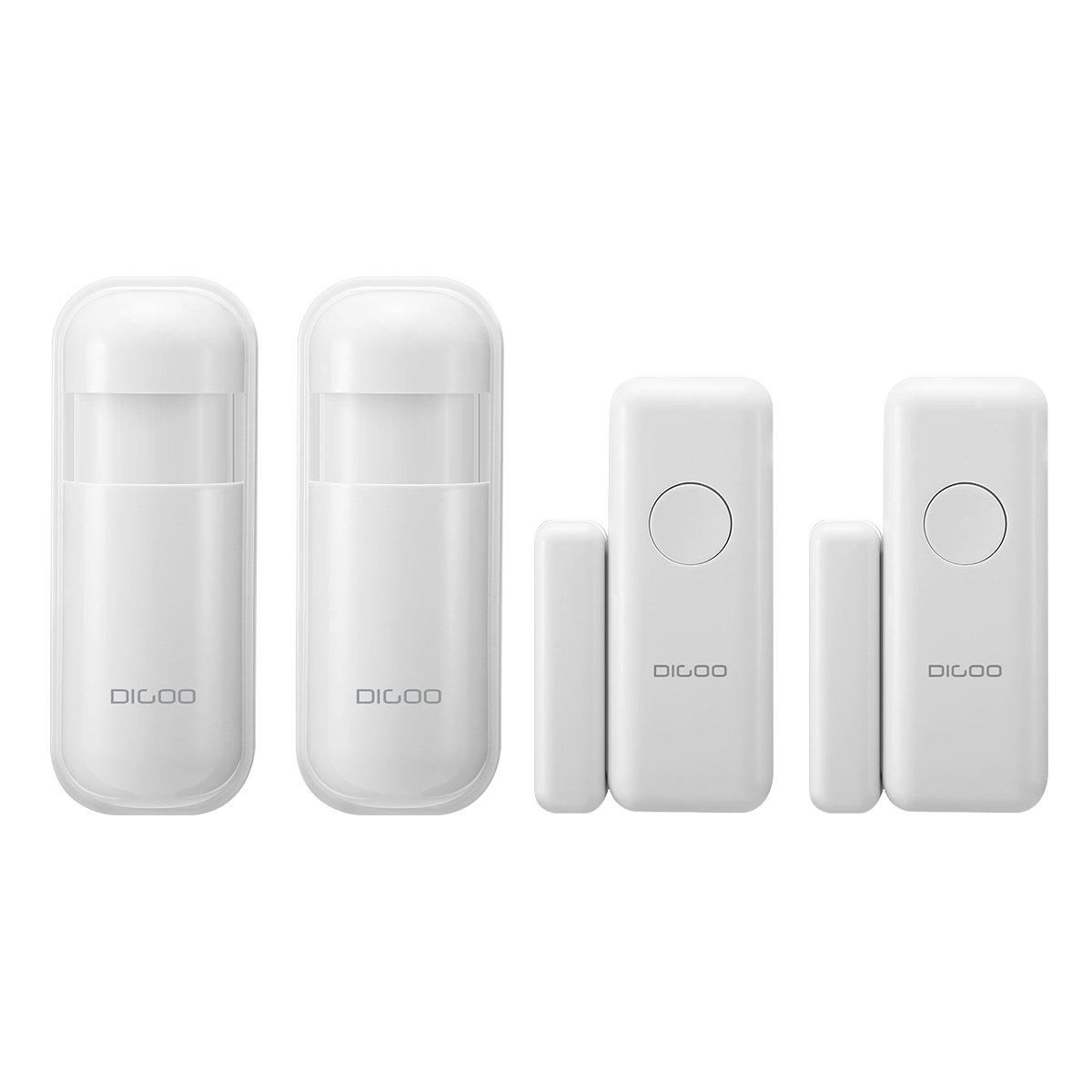 DIGOO DG-HOSA 433MHz Burglar Alarm Sensor, Wireless Windows Doors Sensor and Infrared PIR Motion Detector, Work with Any 433MHz Home Security Alarm System for Home and Business(2 Pack)