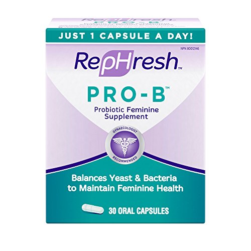 Rephresh Pro B Probiotic Feminine Supplement  30 Count