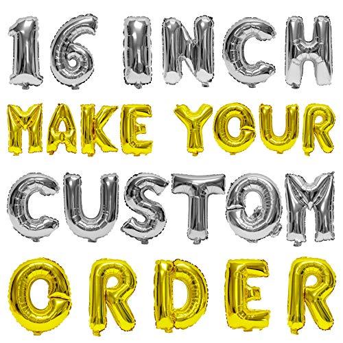 Letter, Number Balloons - Any Custom Phrase 16