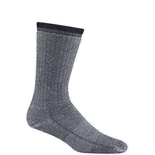Pack Sock Navy 2 Crew (Wigwam Men's Merino Wool Comfort Hiker Crew Length 2-Pack Sock,Navy,XL(MEN'S SIZE 12-15))