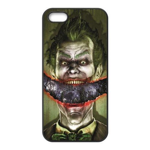 Joker Smile coque iPhone 5 5S cellulaire cas coque de téléphone cas téléphone cellulaire noir couvercle EOKXLLNCD24907